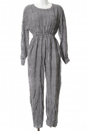 American Vintage Jumpsuit black-white check pattern casual look