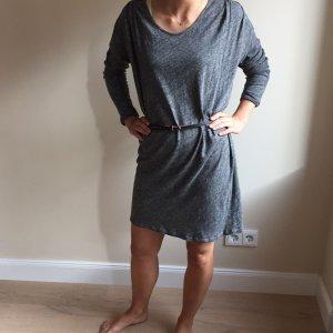 American Vintage Kleid, grau meliert, Gr. S (ohne Gürtel)