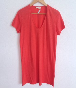 American Vintage Kleid Longshirt in Wassermelone Overize Casual Cosy Yoga M L