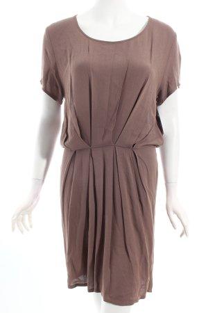 American Vintage Kurzarmkleid hellbraun schlichter Stil