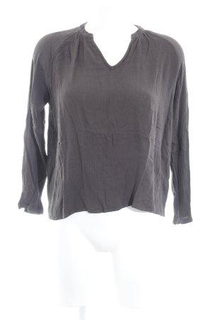 American Vintage Long Sleeve Blouse dark grey casual look