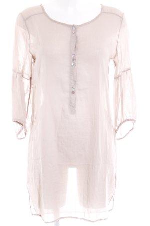 American Vintage Langarmkleid beige Casual-Look