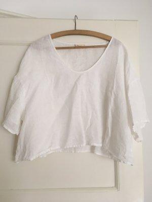 American Vintage Cropped Shirt white