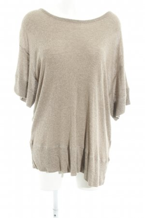 American Vintage Lang shirt beige gestippeld casual uitstraling