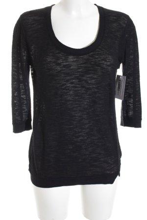 American Vintage Longshirt schwarz meliert Casual-Look