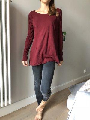 American Vintage Camisa holgada burdeos