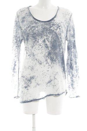 American Vintage Manica lunga bianco-blu puntinato stile casual