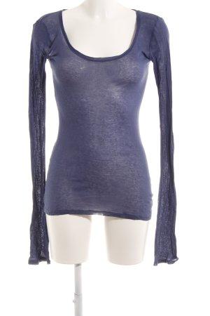 American Vintage Longsleeve blau Casual-Look