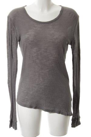 American Vintage Manica lunga grigio chiaro stile casual