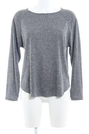American Vintage Longesleeve grijs gestippeld casual uitstraling