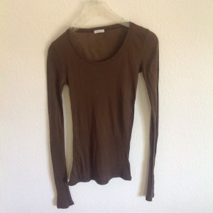 American Vintage Longsleeve Langarm Braun Yoga Langarm Shirt Longshirt L 38 40