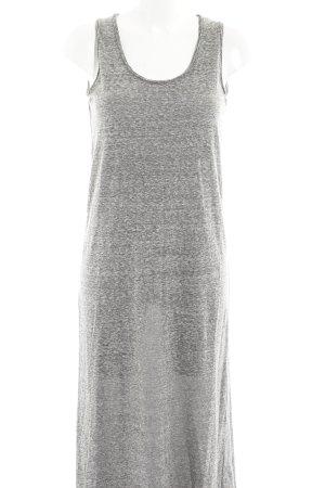 American Vintage Maxi-jurk grijs-lichtgrijs gestippeld casual uitstraling