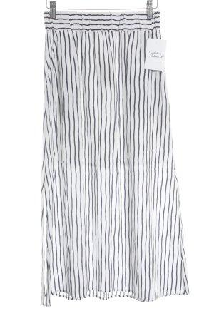 American Vintage Falda larga azul oscuro-blanco estampado a rayas estilo naval