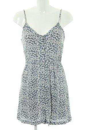 American Vintage Mini Dress white-grey allover print casual look