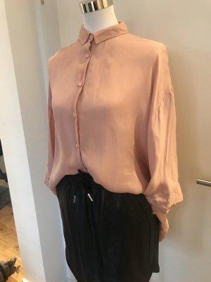 American Vintage Blusa taglie forti albicocca-rosa Cupro