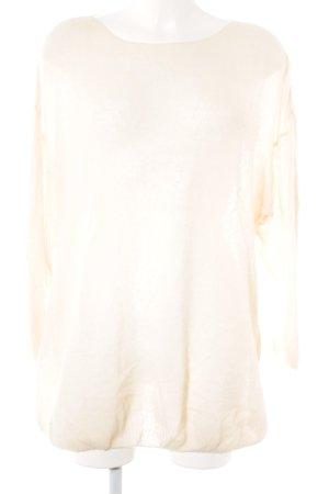 American Vintage Jersey holgados crema Patrón de tejido look casual