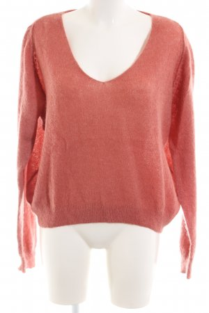 American Vintage Oversized Sweater red casual look