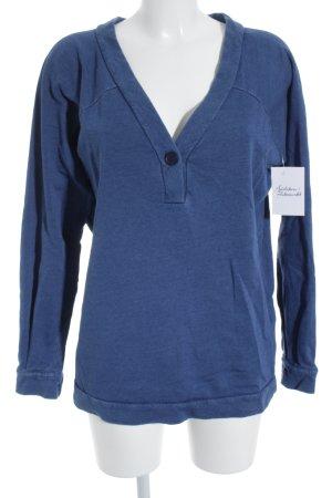 American Vintage Oversized Pullover stahlblau Casual-Look