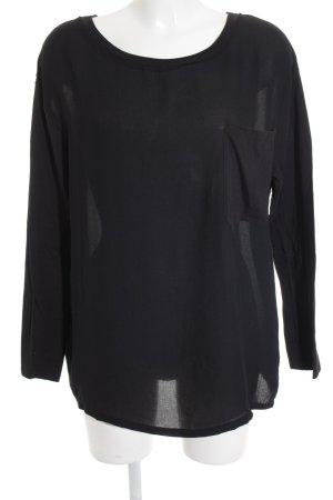 American Vintage Camisa holgada negro look casual