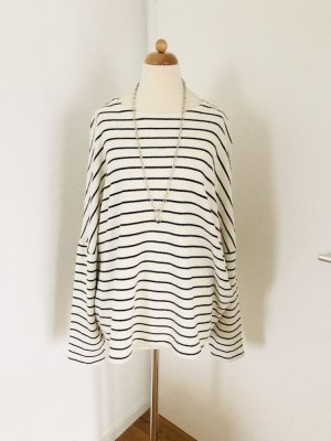 American Vintage Oversized Sweater natural white-black cotton