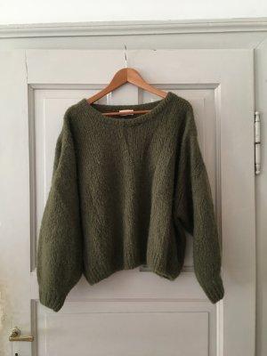 American Vintage Pullover, schlammgrün, xs/s