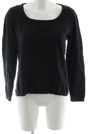 American Vintage Jersey de cuello redondo azul oscuro look casual