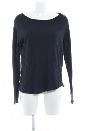 American Vintage Crewneck Sweater dark blue minimalist style