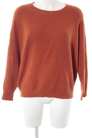 American Vintage Jersey de cuello redondo naranja oscuro look casual