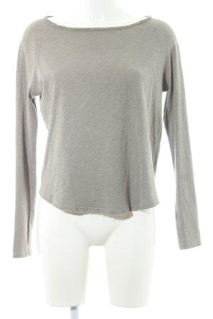 American Vintage Kraagloze sweater grijs-bruin casual uitstraling
