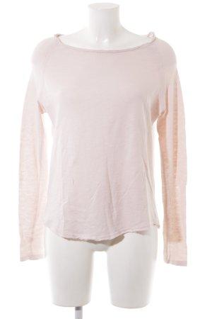 American Vintage Kraagloze sweater nude casual uitstraling
