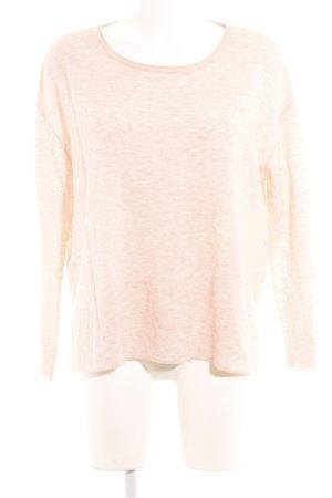 American Vintage Jersey de cuello redondo rosa estilo sencillo