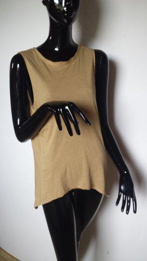 American Vintage Long Shirt sand brown cotton