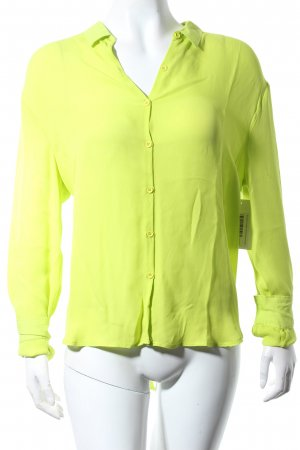 American Vintage Blusa de seda verde neón