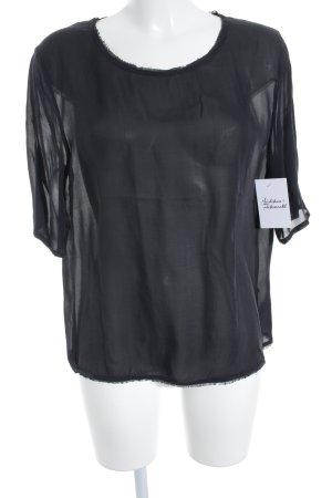 American Vintage Top de seda negro estilo minimalista