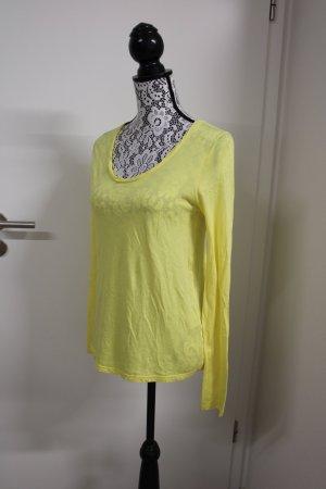 American Vintage Manica lunga giallo-giallo pallido