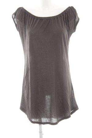 American Vintage Vestido estilo camisa gris oscuro estilo sencillo
