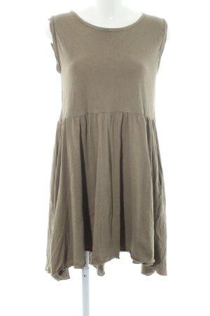 American Vintage T-shirt jurk khaki tweedehandse uitstraling