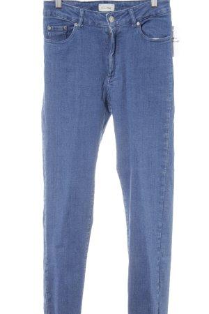 American Vintage Slim Jeans stahlblau Casual-Look