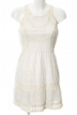 American Vintage Lace Dress cream floral pattern romantic style