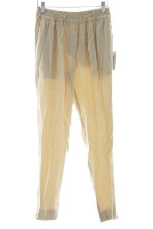 American Vintage Pantalón tipo suéter crema elegante
