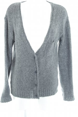 American Vintage Knitted Cardigan grey flecked classic style