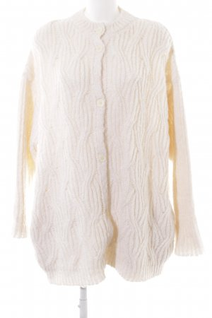 American Vintage Knitted Cardigan natural white-cream weave pattern casual look
