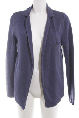 American Vintage Blazer tejido azul oscuro moteado look casual