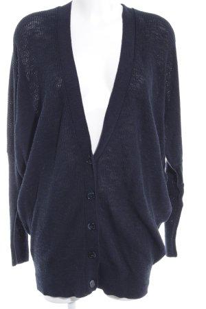 American Vintage Gebreid jack donkerblauw casual uitstraling