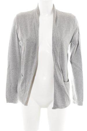 American Vintage Giacca in maglia grigio chiaro puntinato stile casual