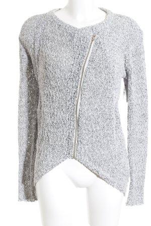 American Vintage Strickjacke grau-weiß Casual-Look
