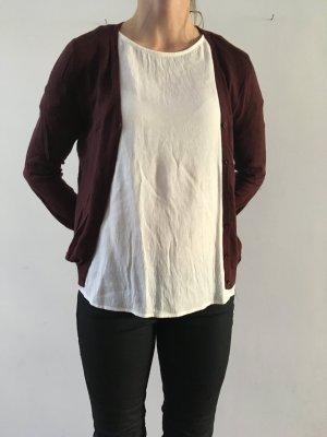 American Vintage Giacca in maglia marrone-rosso