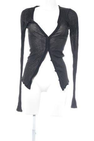 American Vintage Strickjacke schwarz Casual-Look
