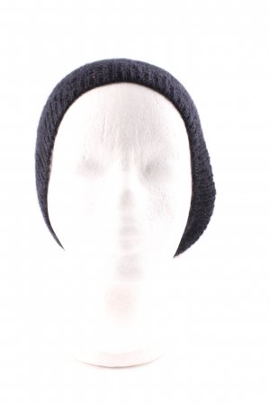 American Vintage Knitted Hat black-oatmeal simple style