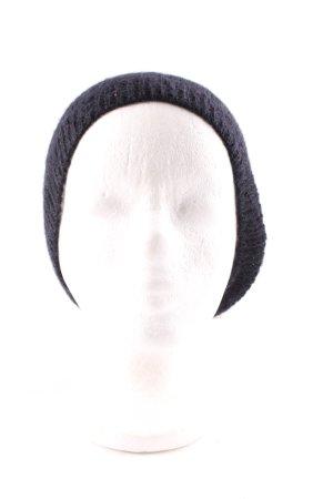 American Vintage Chapeau en tricot noir-beige clair style simple